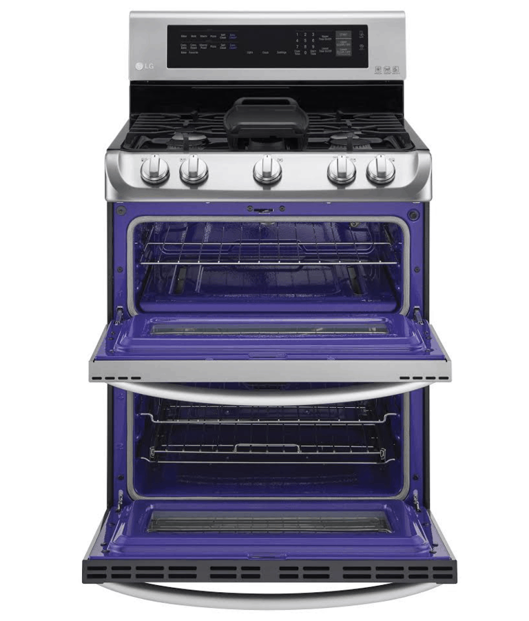 Double Oven With Grill Glass Lid Stut Off Grill Pan