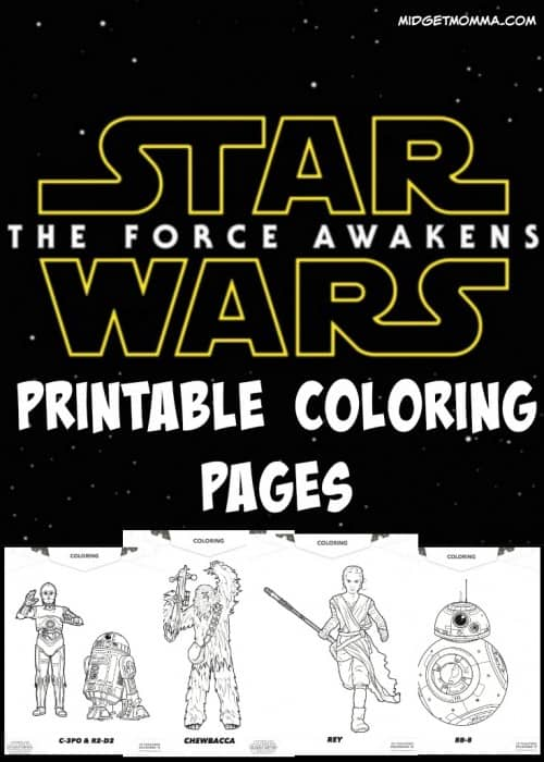 Star Wars Force Awakens Printable Coloring Pages