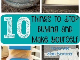 10 things to Stop Buying and Make Yourself