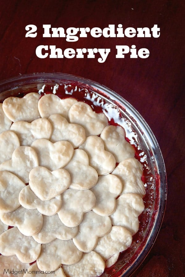 2 Ingredient Cherry Pie that anyone can make. Only 2 ingredients and super simple! Plus it looks so pretty too! Tastes even better then it looks!