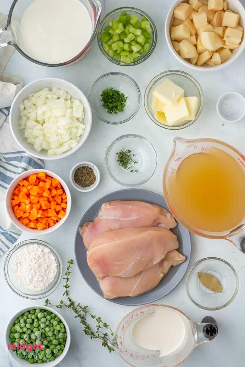Chicken Pot Pie Soup ingredients
