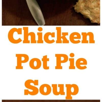 Chicken Pot Pie Soup is easy an easy to make soup that is filling. Chicken Pot Pie Soup is made with shredded chicken an veggies. Serve with homemade rolls