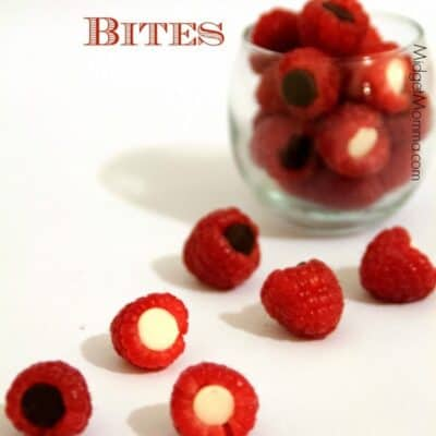 Chocolate Raspberry Bites. No mess making these Chocolate Raspberry Bites and the flavor is oh so tasty!