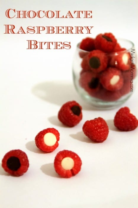 Chocolate Raspberry Bites. No mess making these Chocolate Raspberry Bites and the flavor is oh so tasty!
