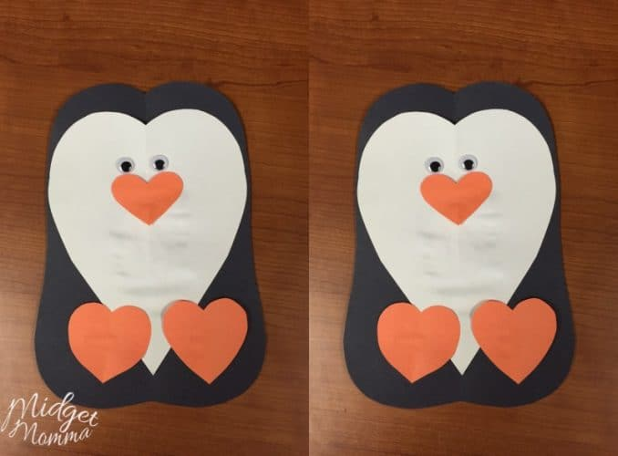 Valentine's Day Penguin Craft