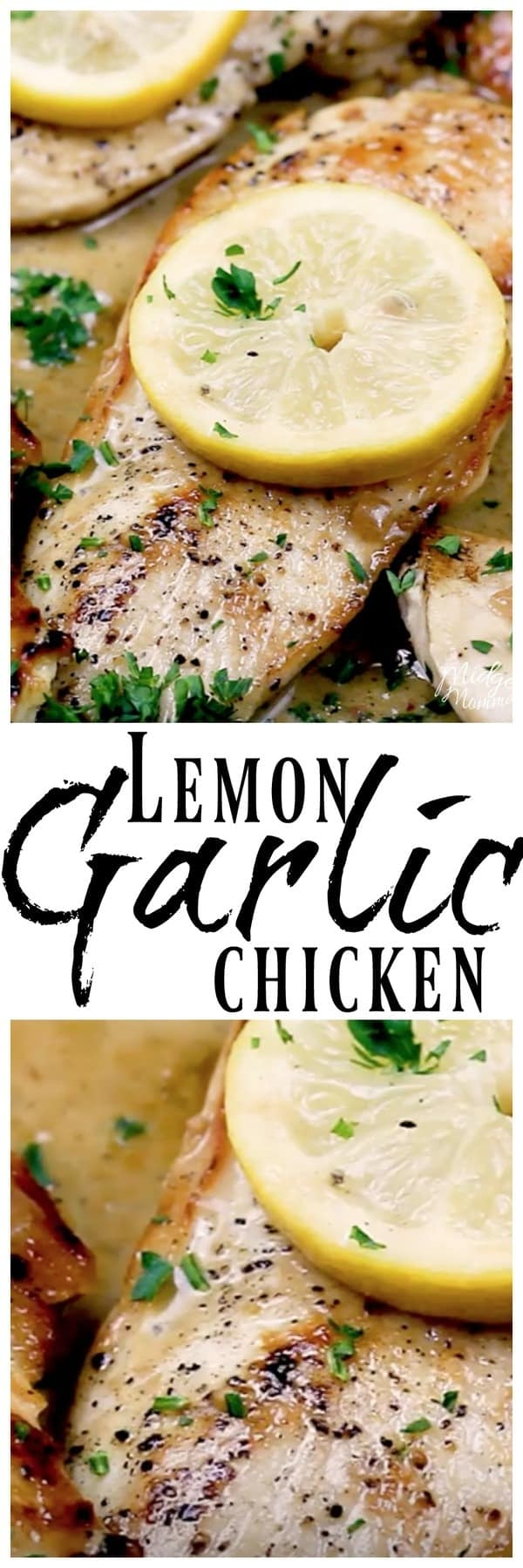 Lemon Garlic Chicken - Easy one pot meal that has amazing flavor. Quick to make, this chicken recipe has awesome flavors of garlic and lemon in a creamy sauce. #chicken #dinner #Recipe #garlic #lemon