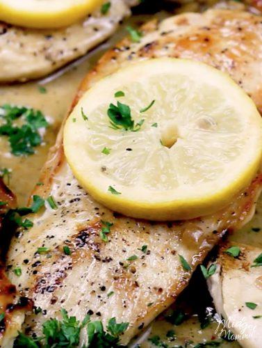 One Pan lemon Garlic Chicken