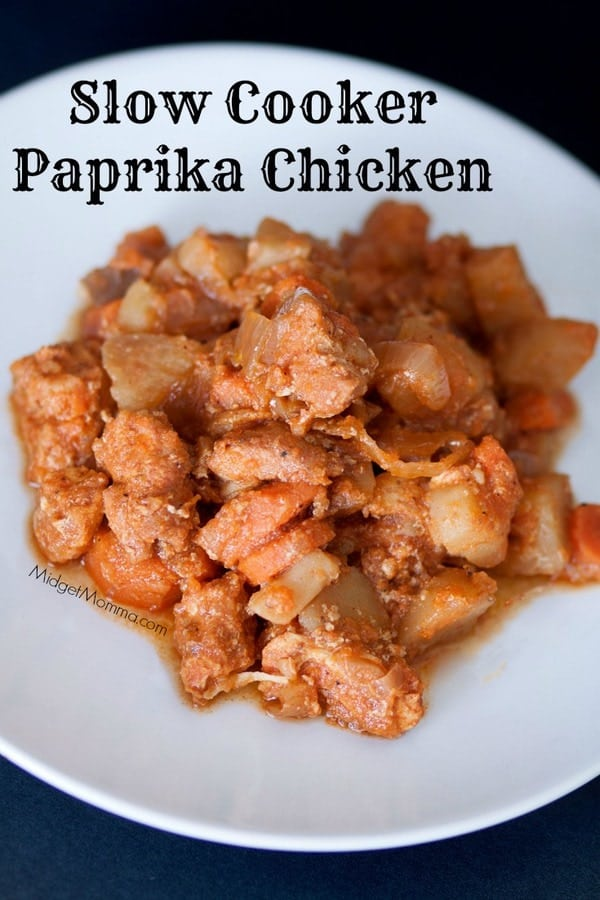Slow Cooker Paprika Chicken. Amazing flavor that is bold and tasty right from the crockpot with very little work. Serve with salad and fresh bread