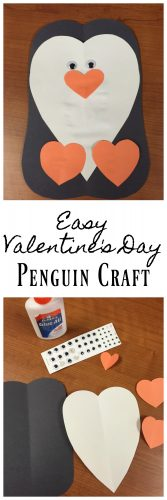 Valentine's Day Penguin Craft for kids