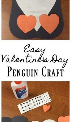 Valentine's Day Penguin Craft for kids
