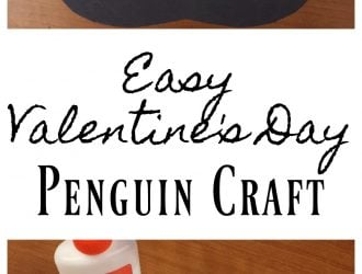 Easy Valentine's Day Penguin Craft