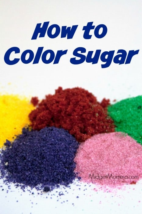 Step by step directions on how to make Colored Sugar. Easy to make Make Colored Sugar and will save you a lot of money vs buying it in the store