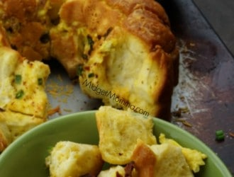 Tasty Bacon Egg Cheese Monkey Bread. Bacon Egg & Cheese Monkey Bread made with biscuits. Great breakfast for dinner recipe or for breakfast meals.