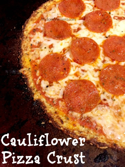 auliflower Pizza Crust. This pizza crust tastes great and if you are trying to cut back on the bread that you eat this Cauliflower Pizza Crust is great!