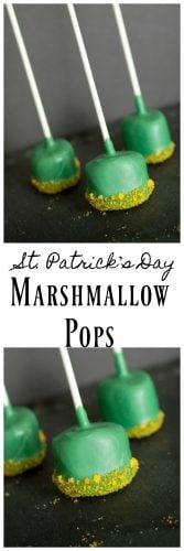 St. Patrick's Day Marshmallow Pops