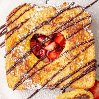 Chocolate Strawberry French Toast