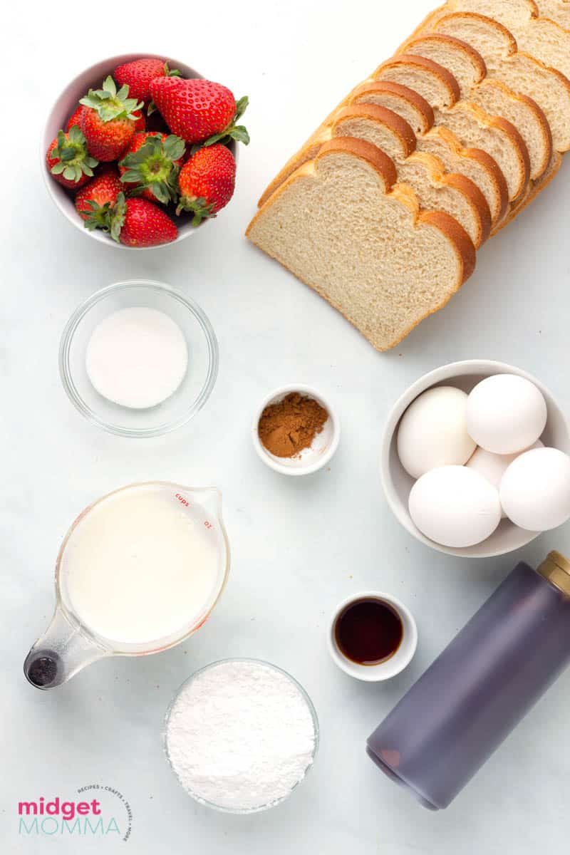 Chocolate Strawberry French Toast ingredients
