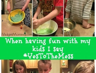 Making Cakes with the Kids I Say #YesToTheMess Thanks to Swiffer!