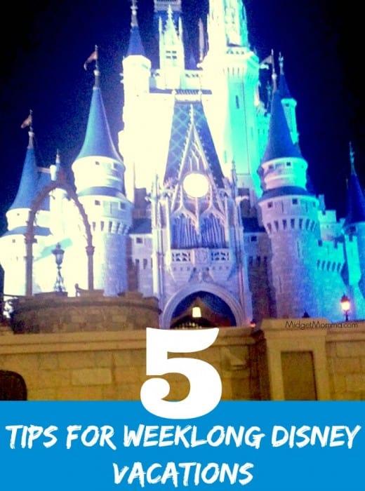 Weeklong Disney Vacations tips