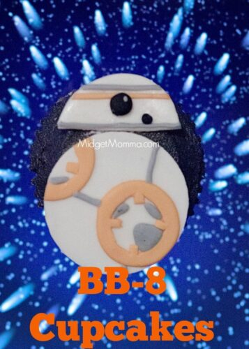 BB-8 Cupcakes. Follow these directions and have cute BB-8 Cupcakes that are perfect for your Star Wars Party! Made with homemade cake and frosting. Star Wars Party food, Star Wars cupcakes, Star wars snacks, star wars themed cupcake, star wars themed food.