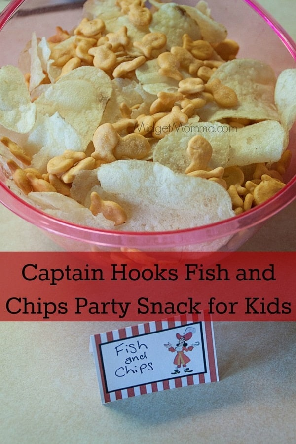 captain hooks fish and chips party snack for kids. Black Bedroom Furniture Sets. Home Design Ideas