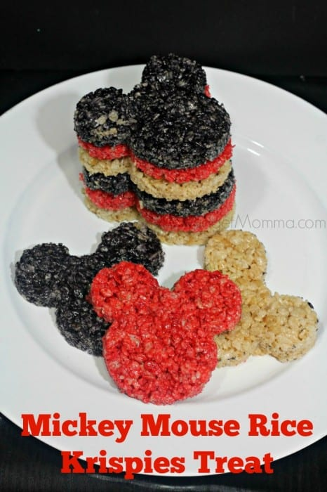 Love Rice Krispies and Mickey Mouse? Then you are going to love these Mickey Mouse Rice Krispies Treat. Color them with food dye or skip it.