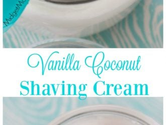 Vanilla Coconut Shaving Cream. Homemade Shaving Cream that smells so amazing. DIY shaving cream with coconut is so easy to make too! You will love this Easy DIY shaving cream!