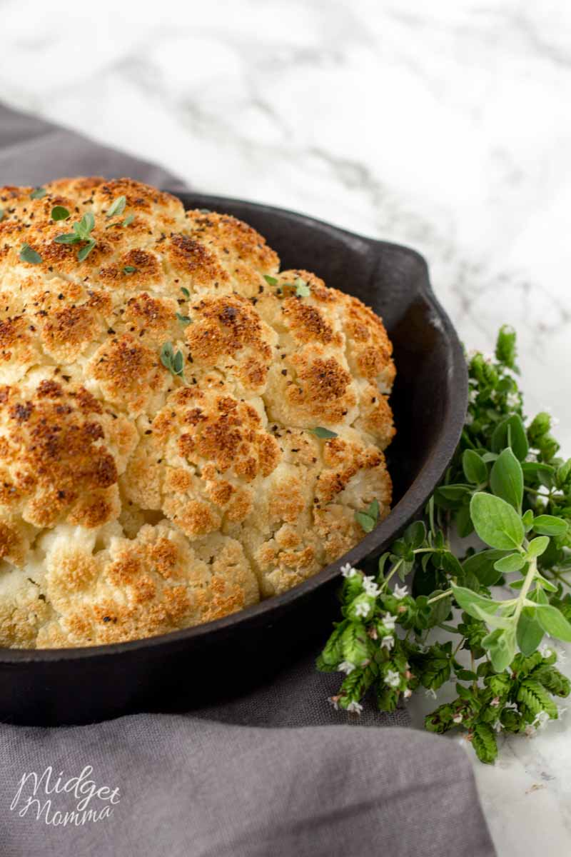 A simple roasted cauliflower is that perfect side dish, that is quick to make and comes out perfect every time!
