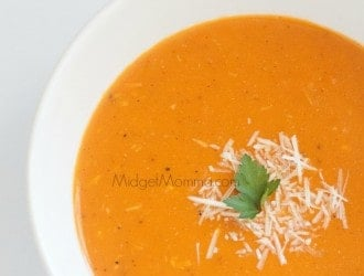 Parmesan Tomato Pressure Cooker Soup. Amazing soup made with easy in your pressure cooker. Quick to make for dinner and goes perfect with grilled cheese.