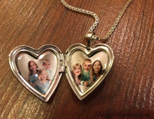 Pictures on Gold Sterling Silver 2 Photo Heart locket