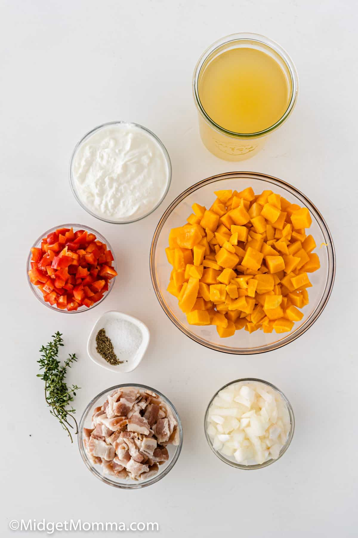 Roasted butternut squash soup recipe ingredients