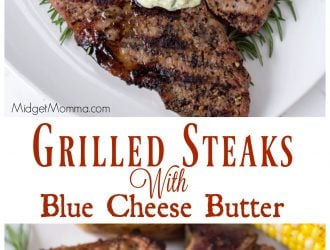 Grilled Steaks With Blue Cheese Butter