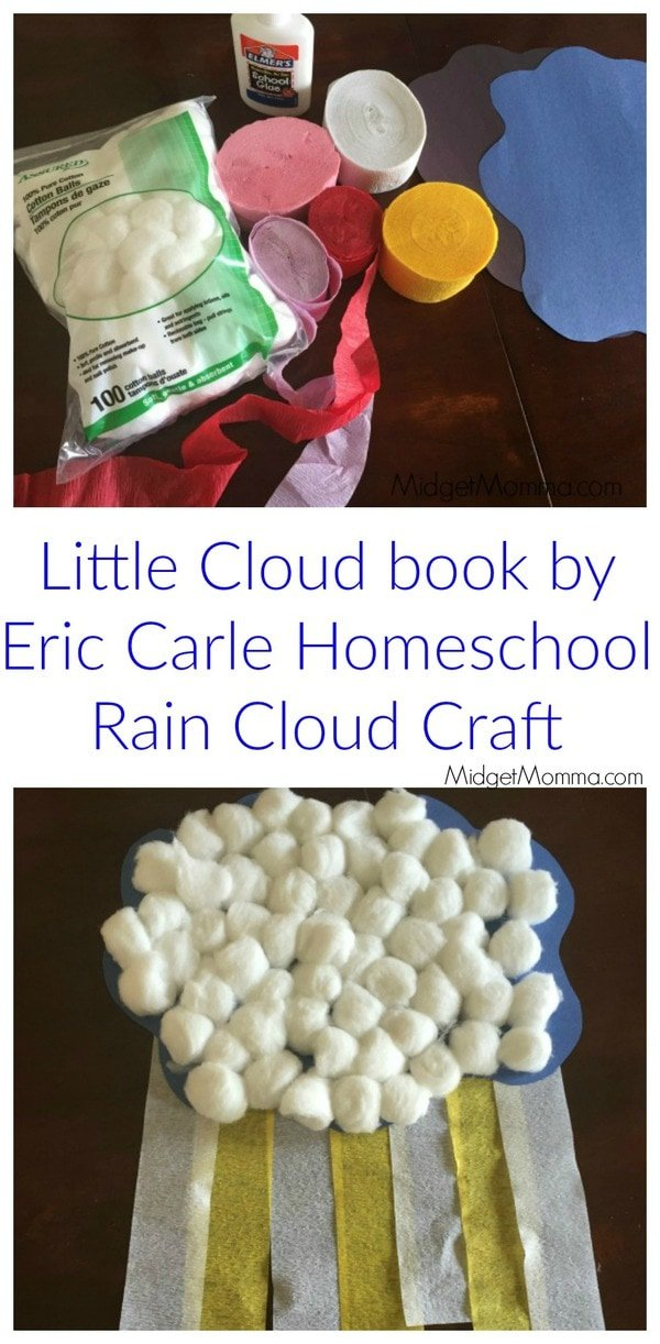 Little Cloud Book By Eric Carle Homeschool Rain Cloud