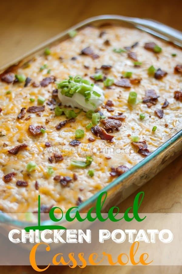 Loaded Chicken Potato Casserole Midgetmomma