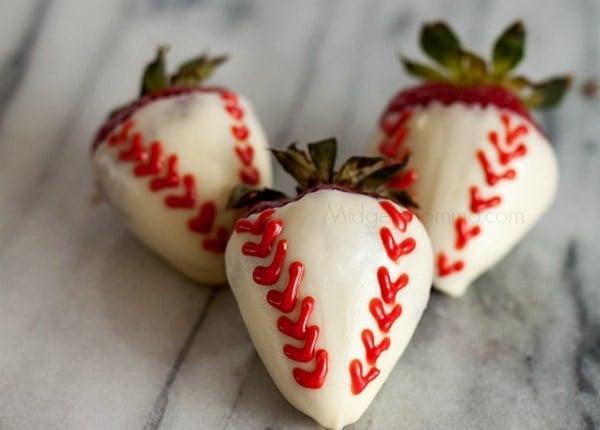 baseball chocolate covered strawberries 1