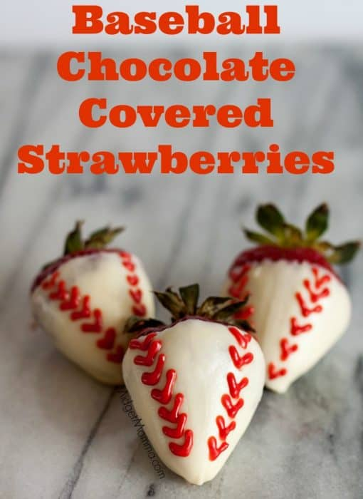 Get creative with these Baseball Chocolate Covered Strawberries. Great for sports parties and father's day. Step by step directions to make them perfect