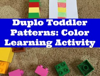 Duplo Lego Patterns Color Learning Activity