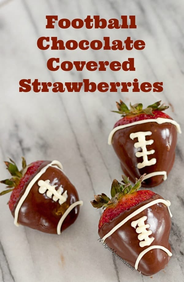 Football Chocolate Covered Strawberries Midgetmomma