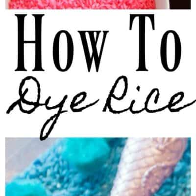how to dye rice colors