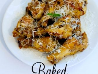 Baked Parmesan Chicken Wings