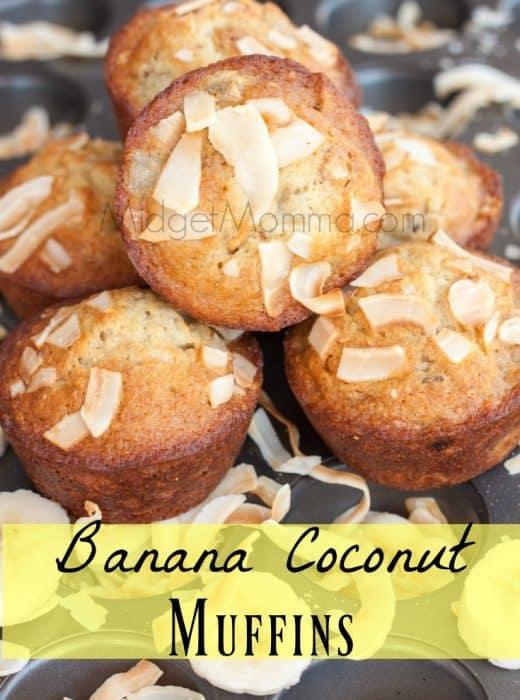 Banana Coconut Muffins