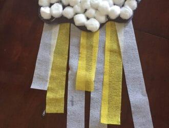 Paper Rain Cloud Craft
