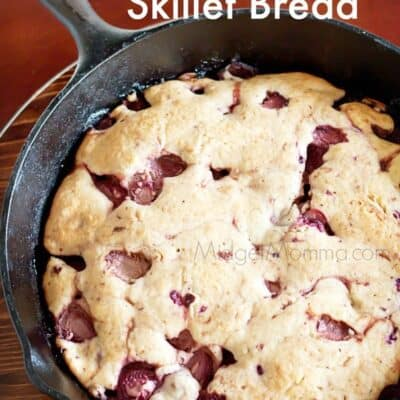Strawberry Skillet Bread. You can easily change up the berries in this Strawberry Skillet Bread for your favorite ones! Tastes just like muffins!
