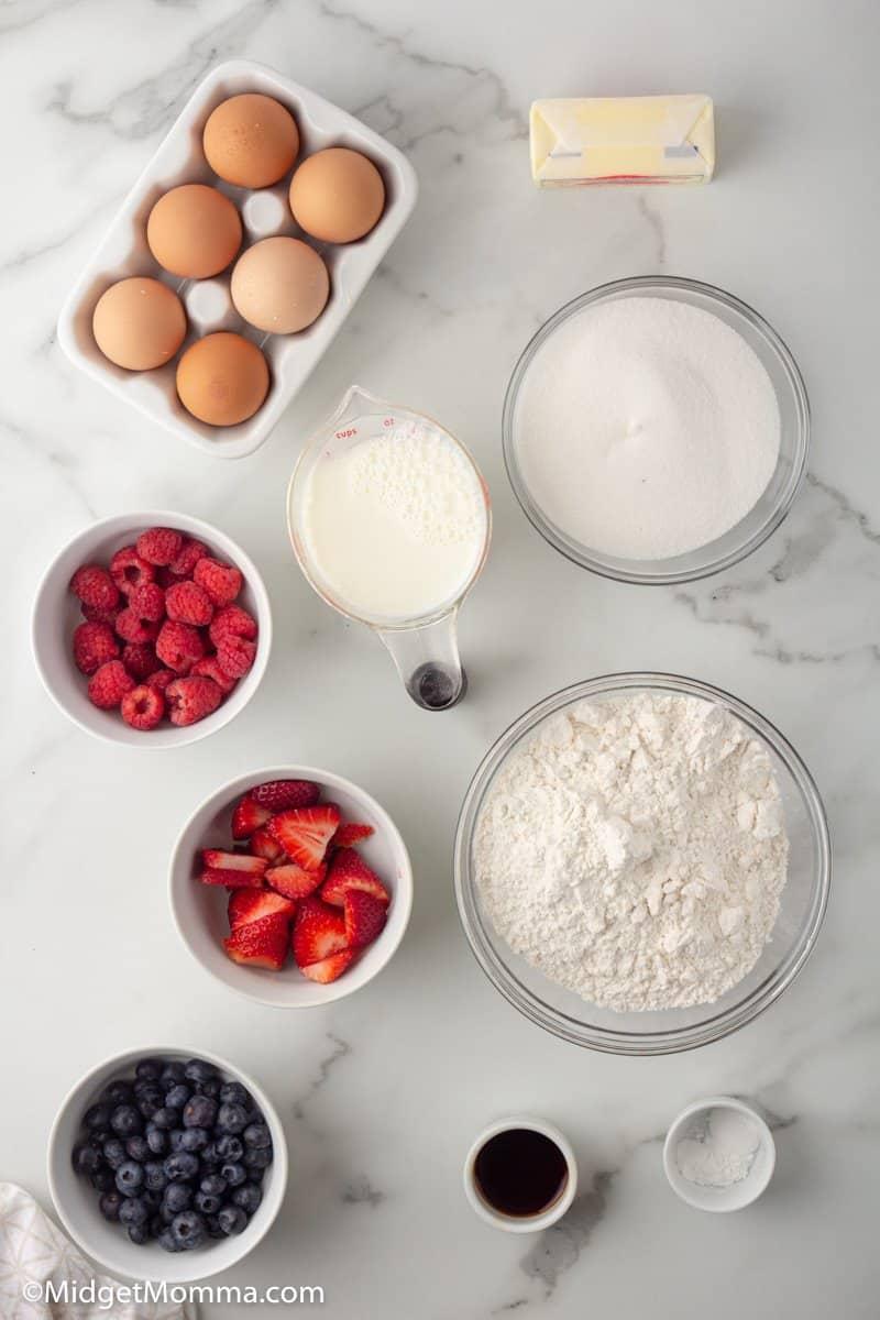 Triple Berry Muffins ingredients