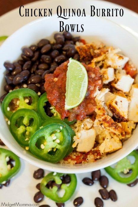 Chicken Quinoa Burrito Bowls 3