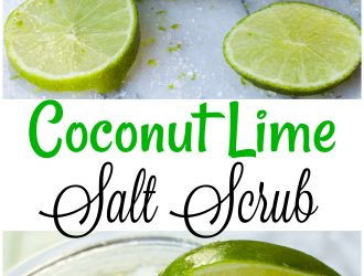 Coconut Lime Salt Scrub