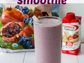 Berry Smoothie made with Premier Protein Shakes At Costco