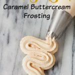 Easy to make Bakery Style caramel Buttercream Frosting, never buy store bought frosting again with this homemade Bakery Style caramel Buttercream Frosting. Homemade Bakery Style caramel Buttercream Frosting is perfect for making cakes. Bakery Style caramel Buttercream Frosting tastes just like a bakery!