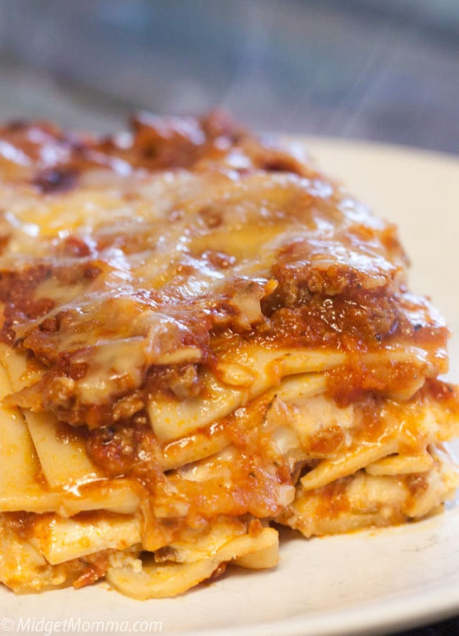 traditional lasagna with meat