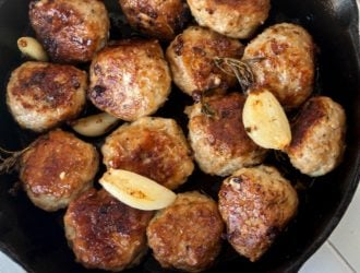 Rosemary Garlic Chicken Meatballs